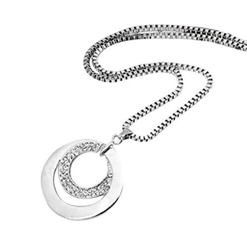 Dorical Kette Damen 925 Sterling Silber,Frauen Halskette mit süße romantik liebe Ring Anhänger...