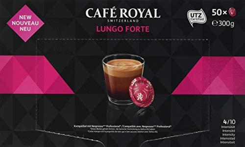 Café Royal Lungo Forte 50 Dosettes de Café Compatibles avec Nespresso (R)* Business Solutions (R)*, Intensité 4/10, 300 g