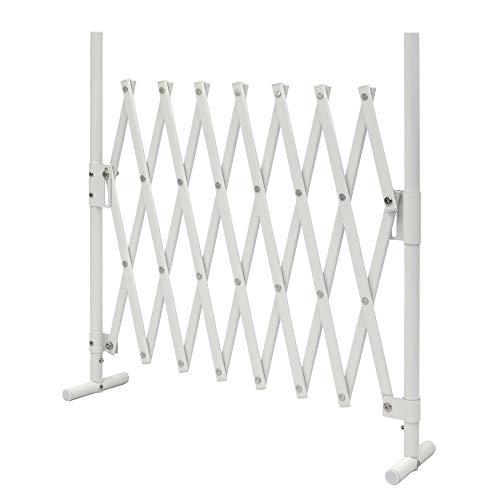 ラティス アルミ フェンス SXG-0715 (ホワイト) 幅150×高さ70〜90cm アコーディオンラティス ペット ゲート アルマックス