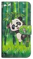Iphone 7 Plus / 8 Plus、3D塗装パターン水平フリップTPU + PUレザーケースiPhone 7 Plus用のホルダー&カードスロット&財布 (Color : Bamboo panda)