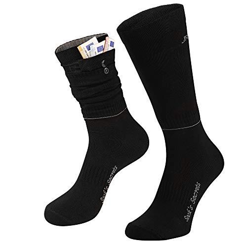 JR Socken Mit Versteckten Taschen für Sport Party Reisen Laufen Damen Herren /Neuestes Produkt/ 43-46