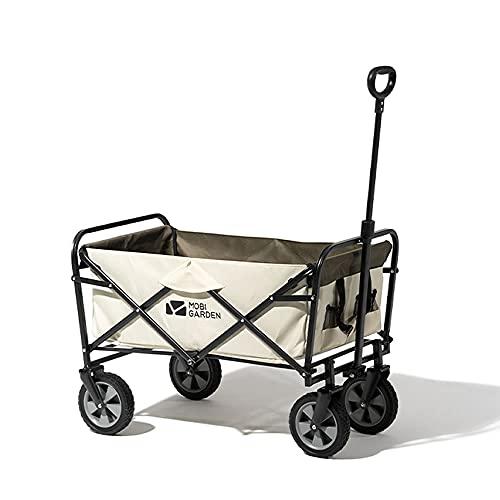MOBI GARDEN キャリーカート ワンタッチ収束式 タイヤロック付き 丸洗い可 軽量 100L大容量マルチキャリーワゴン コンパクト …