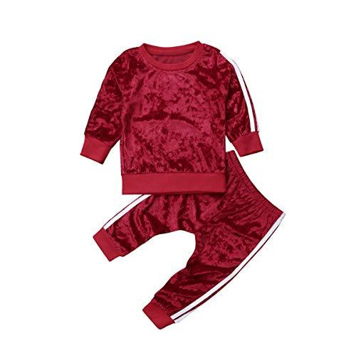 Baby Peuter Baby Meisje Fluwelen Kleding Set Top T Shirt Legging Broek Party Outfit