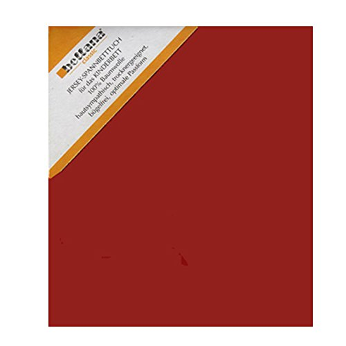 Bellana Kinder Jersey Spannbettlaken 60-70 x 120-140 cm Farbe: Rubin