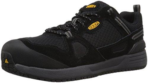 KEEN Utility Women's Springfield Low Alloy Toe Industrial Work Shoe, Black/Steel Grey, 9 Medium US
