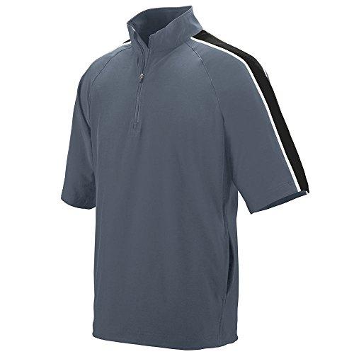 Augusta Sportswear Men's XX-Large Augusta Quantum Short Sleeve Pullover, Graphite/Black/White