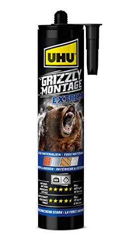 UHU 53435 Extreme, Kartusche Montagekleber Grizzly, weiß
