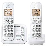 Panasonic KX-TG7122SK DECT 6.0 Digital Answering System Talking Caller ID Expandable Upto 6 Handsets Intercom Cordless Phone- Two Handsets (Renewed)
