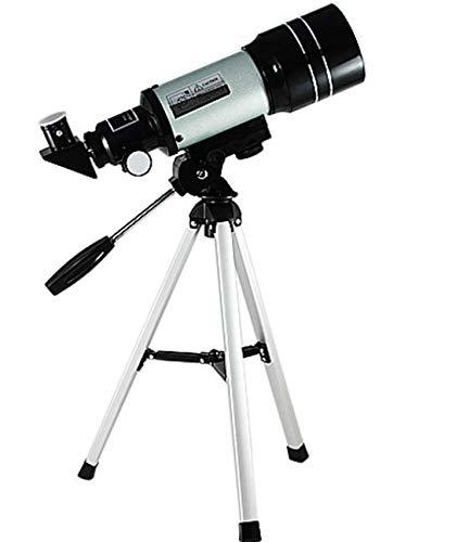 Telescopio para astronomía, Starter Scope con trípode para observación de estrellas para niños y aumento de alta definición 150X y calibre de 70 mm.