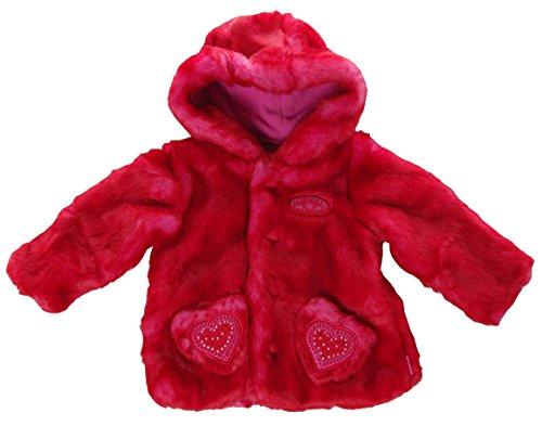 Pampolina Winterjacke Winter Jacke Felljacke mit Kapuze Rot 74