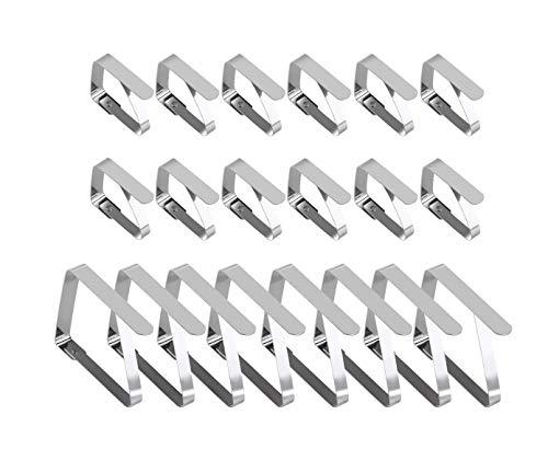 OUNONA 20 Pezzi Fermatovaglia Ferma tovaglia di metallo Incluso 2 dimensioni diverse