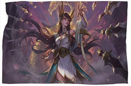 Divine Sword Irelia League Legends - Manta de felpa con patrón de leyendas, súper suave, cálida y cómoda, 127 x 152 cm
