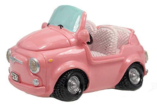 Kremers Schatzkiste Pink Shopping Spardose Mini Auto Sparschwein Sparbüchse Führerschein Geschenk
