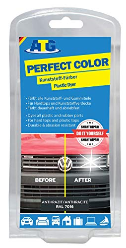 ATG063 - Kunststoff Färber Grau | Kunststoffpflege Auto | Glanz und neues Leben bei jedem Auto Motorrad LKW Caravan - Anthrazit