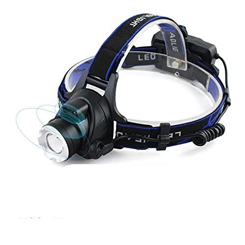 Linterna Frontal Sensor IR LED Faro XM-L2 Faro Micro USB Lámpara de cabeza recargable de la cabeza impermeable Torch Linterna 18650 Luz de la pesca LED (Body Color : White light L2)