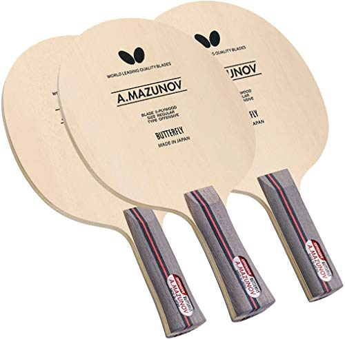 Read About Butterfly Mazunov Table Tennis Blade - 5-Ply All-Wood Blade - Professional Table Tennis B...