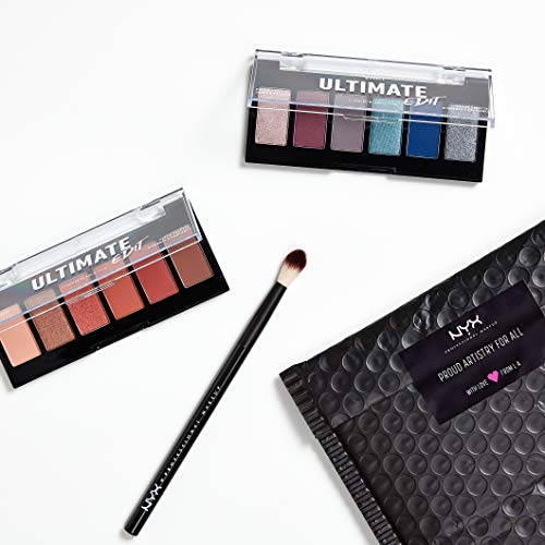 NYX Professional Make Up Set Occhi Ultimate Shadow Goals, Due Palette Ombretti e un Pennello per il Trucco