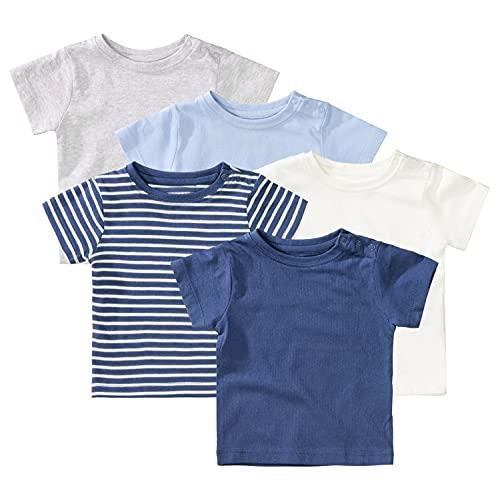 Staccato T-Shirt Baby Jungen 5er-Pack, Bio-Baumwolle, Organic Cotton - Bunt, Größe 86/92