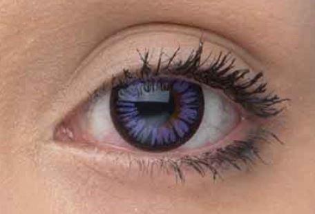 Eye Effect Farbige Kontaktlinsen ohne Sehstärke, Violett 1 Paar (2 Stück) ohne Sehstärke mit Linsenbehälter - Lila farbige Kontaktlinsen - perfekt für Halloween