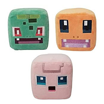 Pokemon Quest Plush 3-Pack Featuring Charmander Bulbasaur Jigglypuff - 4-Inch Plush Toys - Perfect for Playing and Displaying - Gotta Catch 'Em All