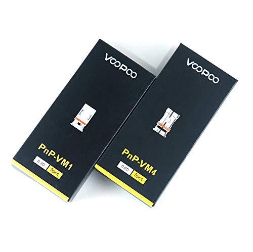 VooPoo PnP-VM4 0,6 Ohm E Zigaretten Verdampferköpfe - 5 Stück pro Packung