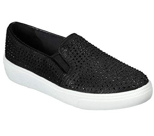 Concept 3 by Skechers Women's Evve Fashion Slip-on Sneaker, Black, 7 Medium US