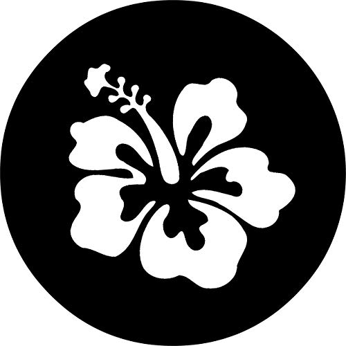 Hokdny Cubiertas De Neumáticos para Rueda De Repuesto Flor De Hibisco Blanco A Prueba De Polvo, Impermeable, Protección Solar Y Protección contra La Corrosión.