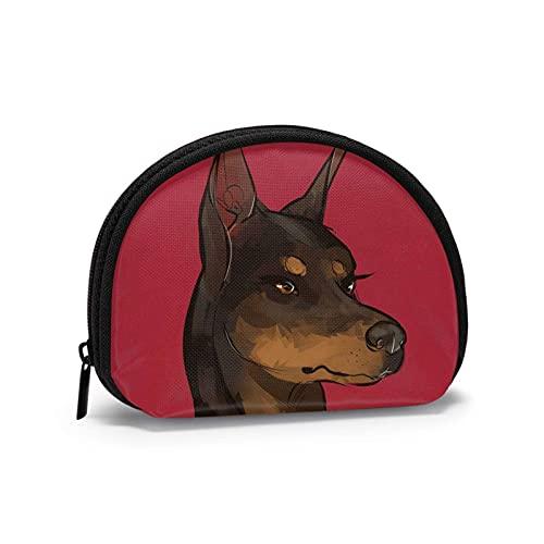 Doberman Pinscher perro rojo niña impreso temático cambio monedero lindo Shell almacenamiento bolsa niña carteras Bule monederos clave bolsa Gifys mujer novedad
