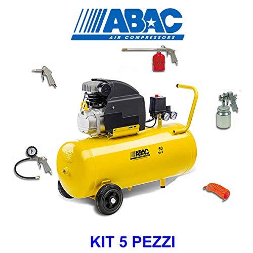 LuftAbac Kompressor Abac Montecaro B20 Basilin – 8 HP2 Bar 50 Liter + 5-teiliges Set