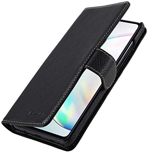 StilGut Talis kompatibel mit Samsung Galaxy Note 10 Lite Hülle aus Leder mit Kartenfach, Wallet Hülle, Lederhülle mit Fächern und Magnet-Verschluss - Schwarz