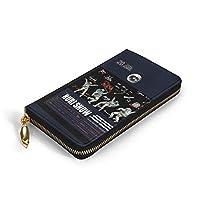 長財布 財布 宇宙飛行士 レザーウォレット 小銭入れ ファスナー ラウンドファスナー ウォレット カード収納 人気 多機能 大容量 牛革 高級感 多機能 札入れ 耐久性
