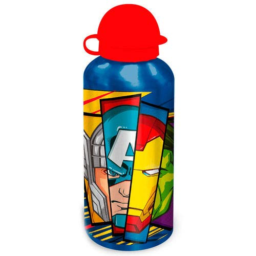 Borraccia termica a prova di perdite, in alluminio, per bambini e bambine, senza BPA, termo/500 ml, colore: rosso