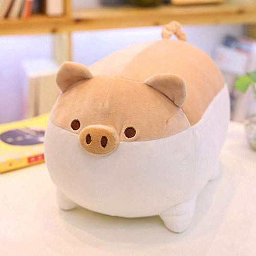 JMHomeDecor For Children Soft Cushion Pusheen Cushion Cute Kids Doll Girl Gift 40/50Cm Soft Stuffed Pig Pillow Plush Toys Animal Pig Toy-50Cm_Black