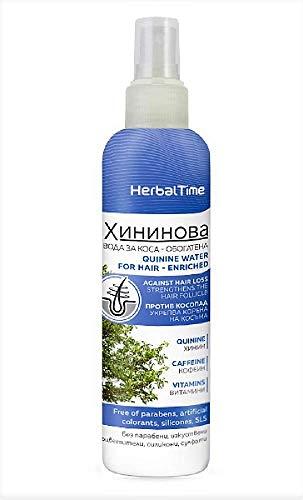 Quinine Hair Lotion - Enrichi, Traitement puissant contre la chute des cheveux Sans Parabènes Sans Silicones Sans Sulfates