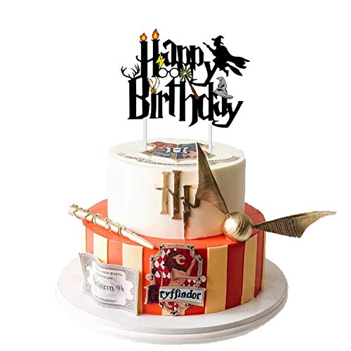 Oringaga Wizard Party Cake/Cupcake Toppers - Wizard/Carnival/Harry Theme Potter Birthday Magicl Party Decorations Supplies Favors Birthday Party Decorations Supplies Favors Cake Decor