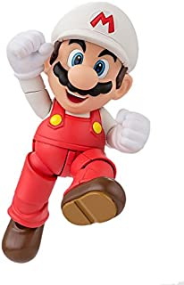 "Bandai Tamashii Nations S.H.Figuarts Fire Mario ""Super Mario"" Action Figure"