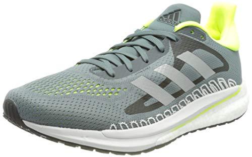 adidas Glide M, Zapatillas para Correr Hombre, Blue Oxide/Silver Met./Solar Yellow, 43 1/3 EU