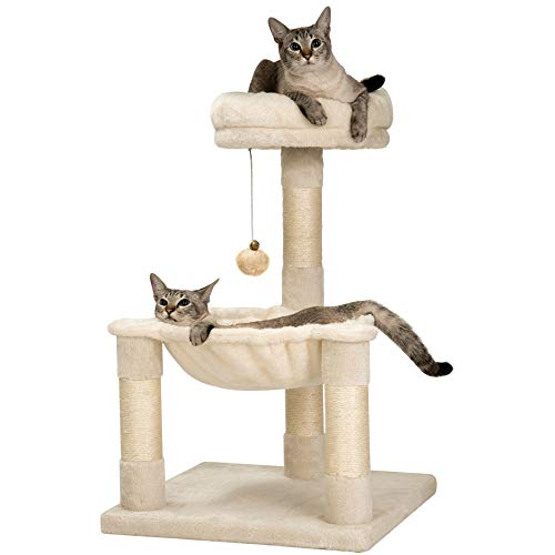 MWPO 28.7 inches Cat Tree with Sisal-Covered Scratching Posts,Hammock and Plush Perches,Small Cat...