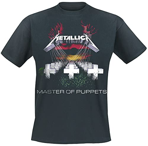 Metallica T Shirt Master of Puppets Album Tracks Oficial de los hombres nuevo