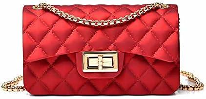 Semi Metallic Matte Jelly Evening Bag Clutch Shoulder Crossbody Purse Women