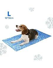 amzdeal Alfombrilla Refrescante Durable para Perros - Cojín para Perros Plegable y No Tóxico, Refrigeración Automática, Ideal para Mantener a Las Mascotas Frescas en Verano, Azul