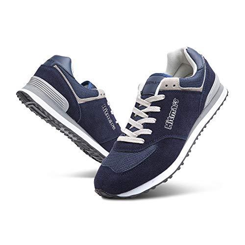 Zapatillas Hombre Mujer Casual Sneaker Gimnasio Cómodos Clásico Zapatos Deportivas Running Azul 1 Talla 48
