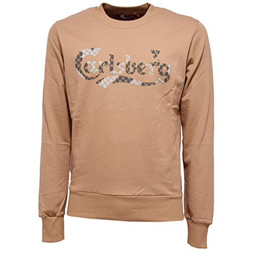Carlsberg 7751K Felpa Uomo Beige Cotton Sweatshirt Man [S]