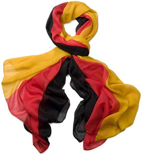 styleBREAKER stylisch leichter Loop oder Schal im Deutschland Flaggen Design 01017013, Variante:Schal/Tuch