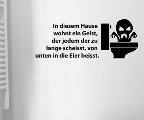myDruck-Store Toiletten Spruch Aufkleber, Wandtattoo Badezimmer, WC Bad Deko Sticker, 1K005, Farbe:Pink Glanz;Breite vom Motiv:35cm
