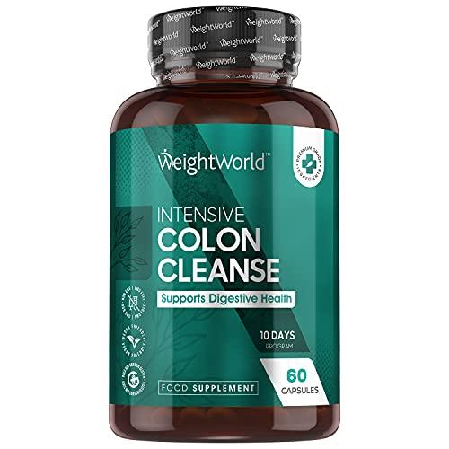Colon Cleanse, 60 Cápsulas de Limpieza de Colon Natural | Enriquecido con Prebióticos y Probióticos Lactobacillus y Bifidobacterias, Con Jengibre y Minerales como Calcio, Magnesio, Selenio y Potasio
