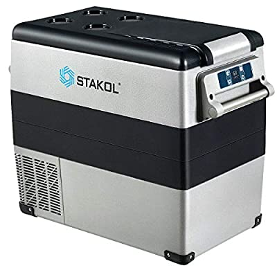 ARLIME 53 Quarts Portable Electric Car Cooler Refrigerator, Fast Cooling Car Fridge Freezer(-4?~68?), Electric Compressor Freezer Cooler with Operating Panel, for Vehicle, Boat, Travel, Outdoor and Home Use