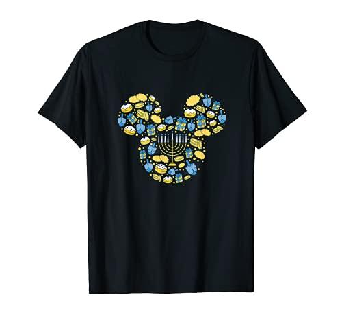 Disney Mickey Mouse Icon Hanukkah Chanukah Dreidel Menorah T-Shirt