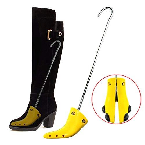 DULALA 1pair Einstellbare Breite Schuhformer Extender Holzstiefel Tree Stretch für Frauen Professional Boot Stretcher