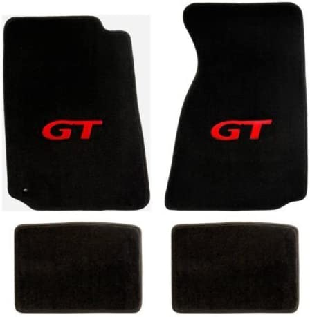 Lloyd Mats Mustang Red GT Floor High order Black Don't miss the campaign Plush Heavy